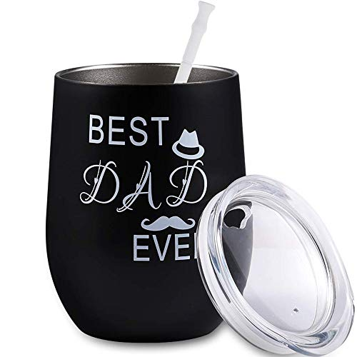 Best Dad Ever - Funny Father Gifts for Father's Day - Best Dad Gift for Father's Day, Dad Birthday, The New Daddy, Dad to be, Husband -12 oz Stainless Steel ()