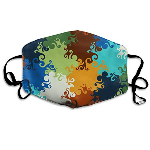 OHMYCOLOR Multicolour Jigsaw Puzzle Face Mouth Mask Unisex Fashion Breathable Anti-Dust Polyester Healthy Masks ()