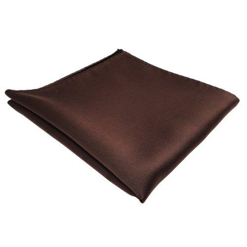 TigerTie pochette en brun foncé unicolor - tissu 100% Polyester