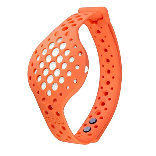 Moov Now - Special Edition - Blizzard White: Sunrise Orange - 3D Fitness Tracker & Real Time Audio Coach [NEW] - Run Walk Swim Cycle Workout Cardio - Cycle Run Swim