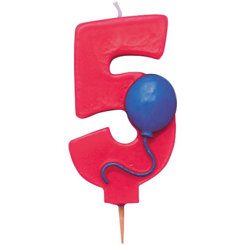 Creative Converting Number 5 Candle with Balloon ()