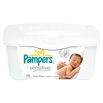 64 Wipes//Tub Sensitive with Touch of Milk Essentials Pampers Baby Wipes Tub