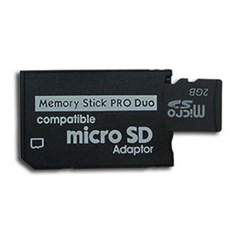 Ociodual Adaptador Tarjeta de Memoria Micro SD SDHC MicroSD a Memory Stick Pro Duo MS PSP