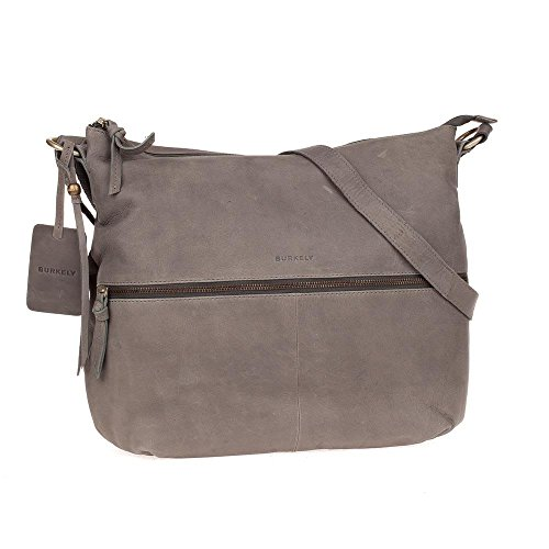 Burkely MELANY Bag Big X Over Zipper Front Gris/Sac à bandoulière