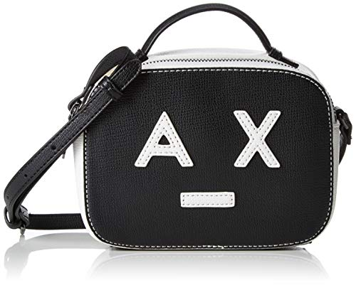 Exchange Armani With black Logo Small Mujer white Negro Bolsos Crossbody Bag Bandolera gd7wdrq