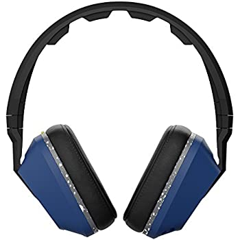 Skullcandy Crusher Headphones with Built-in Amplifier and Mic, Black Blue and Gray