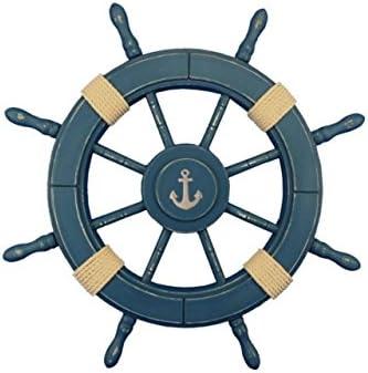 Hampton Nautical Wheel-24-100-anchor Rustic Decorative Ship Wheel