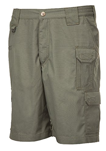 Khaki Short Pleated Washed - 5.11 Tactical Taclite Shorts,TDU Green,34