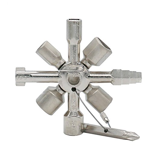 (ZXHAO Multi-Function Electric Control Cabinet Internal Triangle Key Wrench 10 one Cross Key. (Ten in one Key))