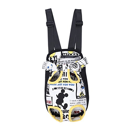 Flight Dog Tag Necklace (LIly's Pet Carrier Chest Pack Dog Front Style Carrier Legs Out Pets Portable Convenient Lightweight Outdoor Travel Pet Carrier Free Your Hands Small/Medium/Large/Xlarge Size 4 Colors Available)