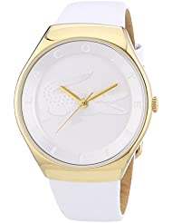 Lacoste Valencia Three-Hand Gold-Tone and White Leather Womens watch #2000763