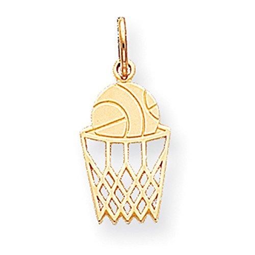 10k Gold Basketball Charm - 6