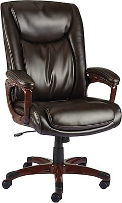 Staples Westcliffe Bonded Leather Managers Chair, Brown - Staples Chair Leather