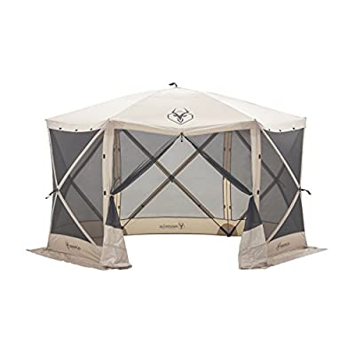 Gazelle Tents G6 Pop-Up Portable 6-Sided Hub Gazebo/Screen Tent, Easy Instant Set Up in 60 Seconds