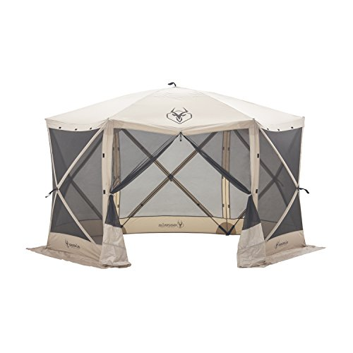 Gazelle Tents 21500 G6 Pop-Up Portable 6-Sided Hub Gazebo/Screen Tent, Easy Instant Set Up in 60 Seconds (Patio Screen Rooms Outdoor)