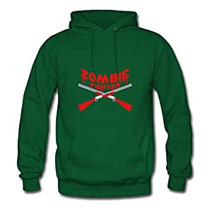 Vintage Zombie Fighter Shotguns Painting Style Personality And Regular Sweatshirts In Green