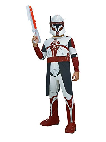 Rubies Star Wars Clone Wars Child's Clone Trooper Commander Fox Costume and Mask, Medium
