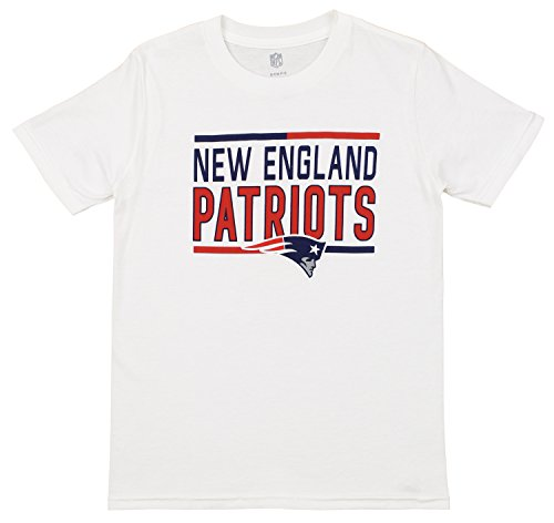 Outerstuff NFL Youth's Short Sleeve Flag Runner Tee, New England Patriots Small (8)
