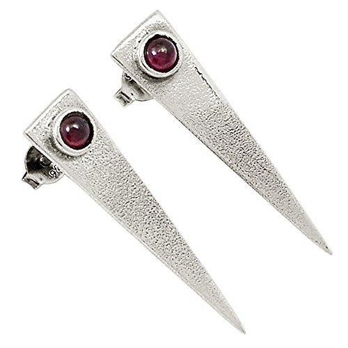 Xtremegems Israeli Design - Garnet 925 Sterling Silver Earrings Jewelry 1