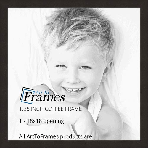ArtToFrames 18x18 inch Coffee Picture Frame, 2WOMFRBW26061-18x18