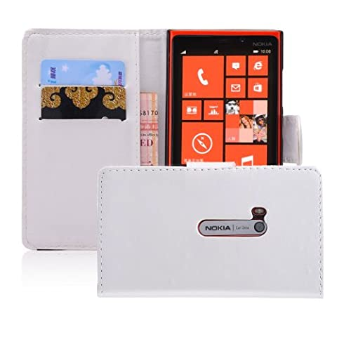 32nd® Book PU leather wallet case cover for Nokia Lumia 920 + screen protector, cleaning cloth and touch stylus - (Cover Case Nokia Lumia 920)