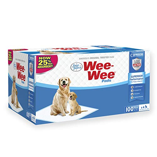 "Four Paws Wee-Wee Absorbent Pads For Dogs, 100 Count, Original (Puppy): 22.5"" X 23"""