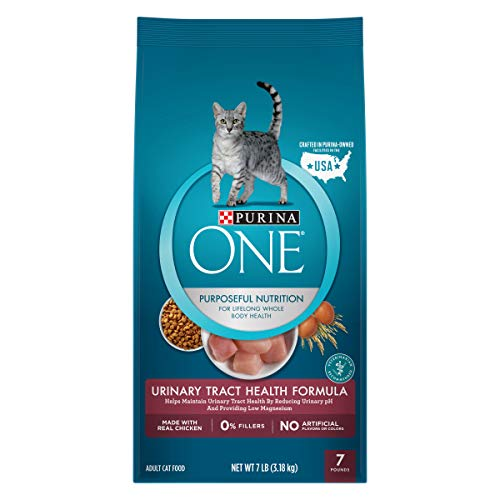 Purina ONE Urinary Tract Health Dry Cat Food; Urinary Tract Health Formula - 7 lb. - Tract Wet Health Urinary Food Cat