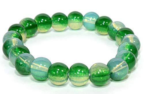 8mm 21pcs Blue Green Man-Made Beads Crystal Quartz Bracelet Polished Barrel Spheres Decor Specimen - China -