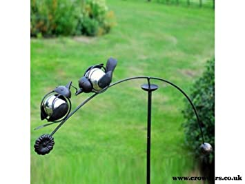 Balancing Lovebirds Garden Ornament By Adobe