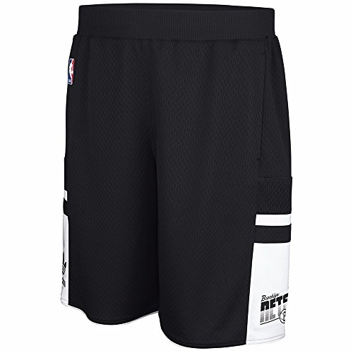 (Brooklyn Nets NBA Adidas Men's Black Mesh Shorts (S))
