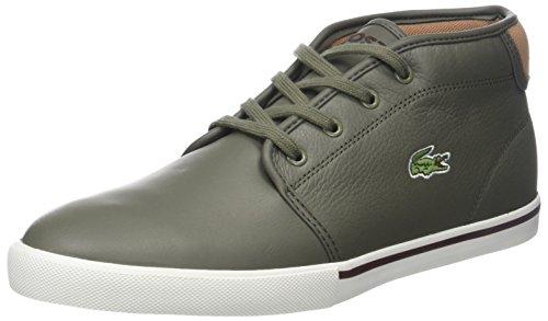 Lacoste Ampthill 118 2 Cam, Sneaker a Collo Alto Uomo Verde (Khk/Off Wht)