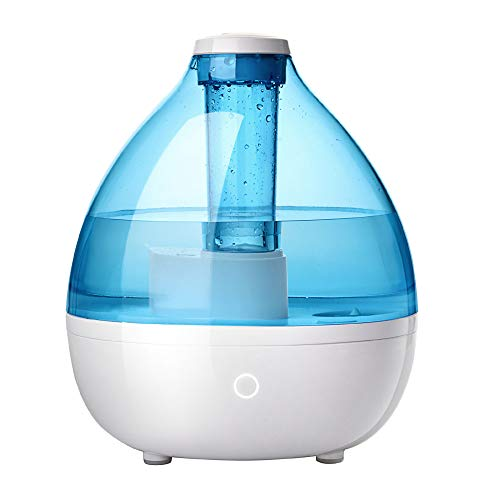 TaoTronics Cool Mist Humidifiers for Bedroom Nursery Baby Room, Ultrasonic Humidifier, Filterless, No Light, Safe Auto Shut-Off, 2.3L/0.6Gallon, 110V Plug