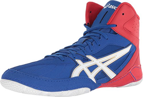 ASICS Men's Cael V8.0 Men's Wrestling Shoe, Asics Blue/White, 12 M US – Sports Center Store