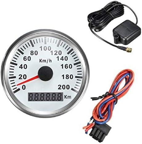 YHWJP 200キロ/ H GPSスピード自動車チューニングゲージの85ミリメートルGPSスピードメーター走行距離計のオートバイのチューニングメーター9-32V (Color : BS, Size : フリー)