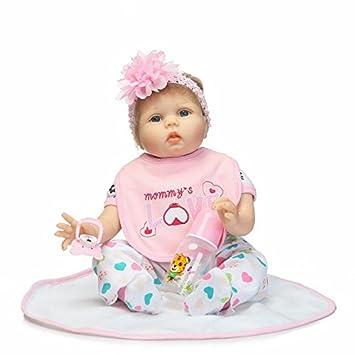 """ce5220e1b1 NPK Silicona Bebe Muñeca Reborn Baby Doll Realista Renacido Bebé 22"""" 55cm Muñeca  Reborn bebé"""