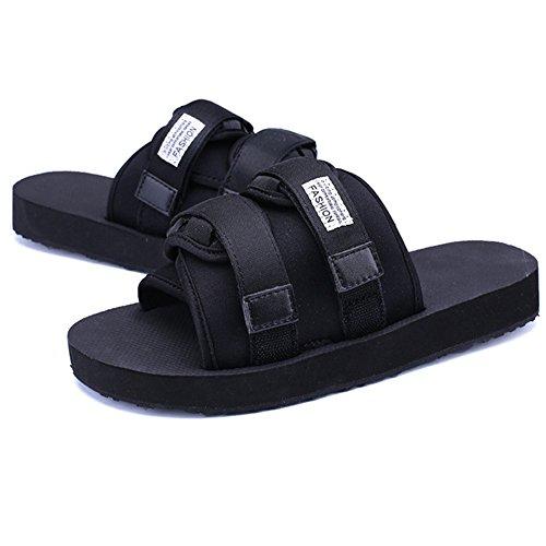 In Pantofole All'aperto da EU 1 Stoffa Colore Superficie Uomo Da Comode spiaggia Nero Nero Wagsiyi 39 Nere 3 pantofole Scarpe Pantofole Scarpe Dimensione 0OWXw