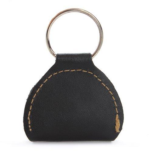 StaiBC Guitar Picks Holder Case Black Leather Keychain Plectrum Cases Bag