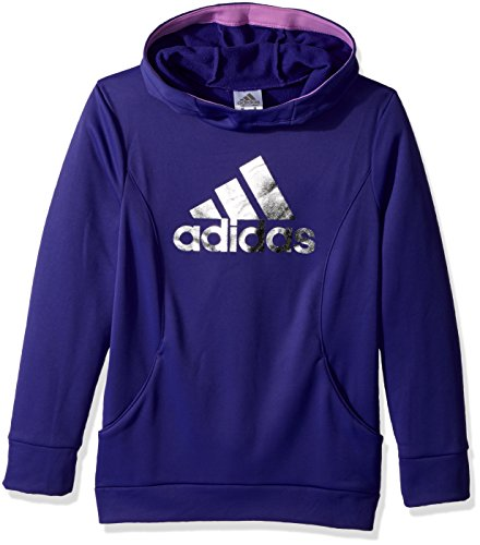 adidas Girls' Big Performance Hoodie, Energy Ink Heather, L ()