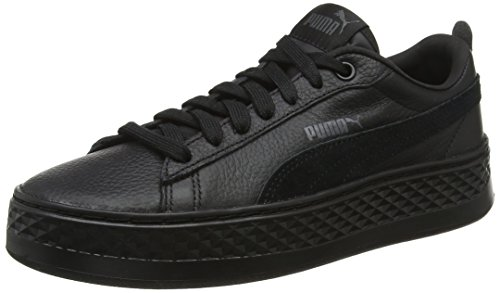 Black Top Smash puma Black Low Women's Puma Sneakers Platform L Puma x1nHXq4