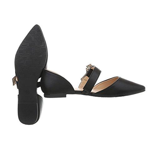 at Flats Heel Ital Black Block Ballet Classic 39 Flats Design Ballet Women's 127 tqgXgxZz