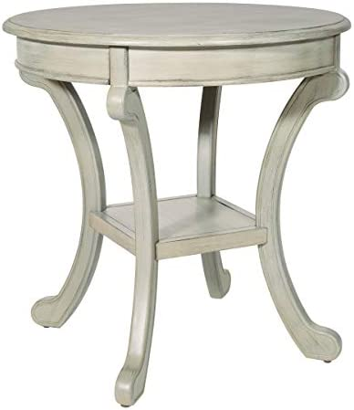 OSP Home Furnishings Vermont Accent Table, Antique Greystone
