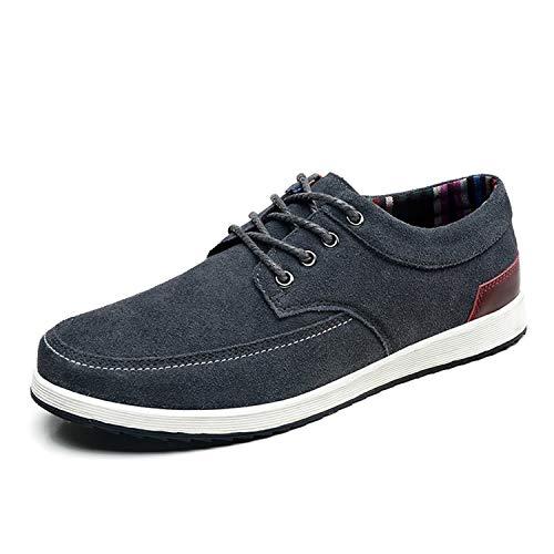 Mocassins S1545 En De Chaussures Hommes Gray Décontractées Printemps Pour Cuir Sneerrt Daim TvqBY6