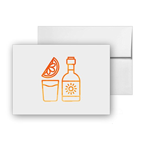 Tequila Shot Drinks Mexico Mexican Lime, Blank Card Invitation Pack, 15 cards at 4x6, with White Envelopes, Item 291293