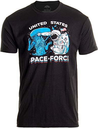 U.S. Space Force | United States American Military Alien Fight Men Women T-Shirt-(Adult,2XL)