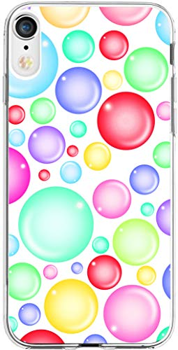 Case for iPhone XR Beautiful for Girls & MUQR Gel Silicone Slim Drop Proof Protection Cover Compatible for iPhone XR/10R 6.1 Inches 2018 & Colorful Pattern Airbubble (Girls Beautiful Cover)