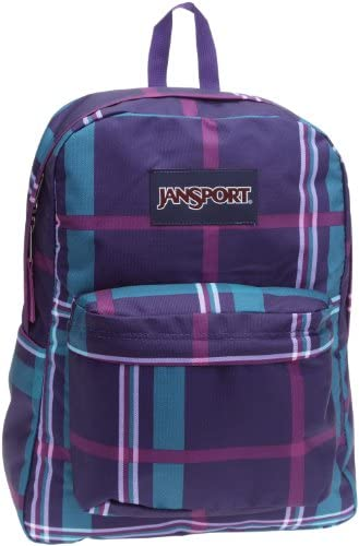JanSport T501 Superbreak Backpack - Electric Purple Perry Plaid