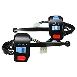 CoCocina Motor Bike Motorcycle Handlebar Horn Turn Signal Spot Fog Driving Light Switch