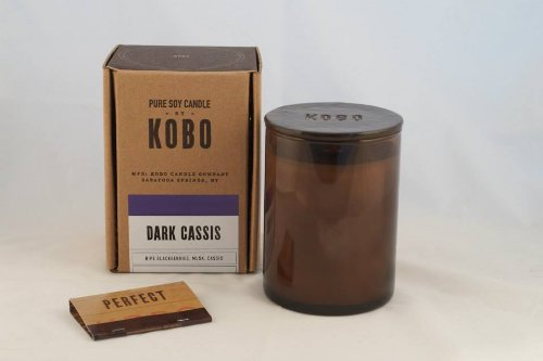 Cassis Candle - Dark Cassis Kobo Soy Candle From The Woodblock Collection