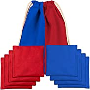 Play Platoon Premium Weather Resistant Duck Cloth Cornhole Bags - Set of 8 Bean Bags for Corn Hole Game - 4 Re