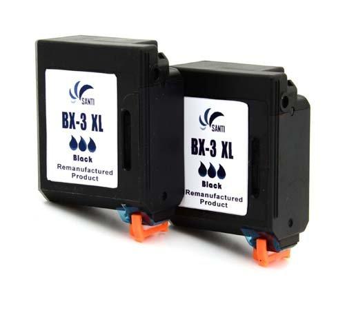 2x BC-03 / BX-03 / BX-3 Fax Druckerpatronen Remanufactured ersetzen Canon BX-3, passend für Canon : CANON FAX B100 B110 B115 B120 B140 B150 B155 /B540 B550 B640 B820 B840 MULTIPASS 10 800 TELEKOM FAX T-Fax 360 361 3200 4200 4300